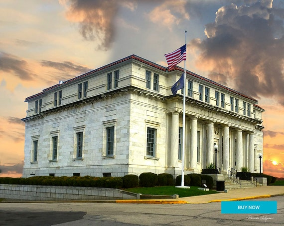 Clark County District Courthouse Fine Art Giclee Print on Paper Canvas or Wood by Brenda Salyers by Brenda Salyers