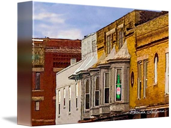 Window on Broadway Winchester Kentucky Fine Art Giclee Print on Paper Canvas or Wood by Brenda Salyers by Brenda Salyers