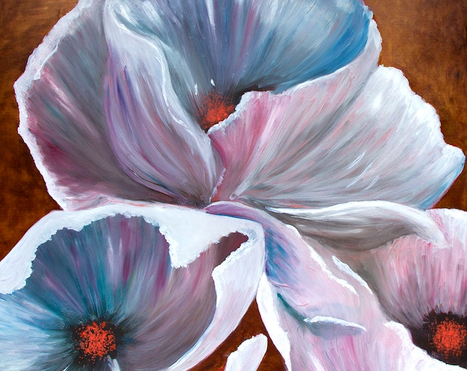 White Hibiscus, Morehead, Kentucky, Giclee Print on Fine Art Paper Canvas or Wood by Brenda Salyers by Brenda Salyers