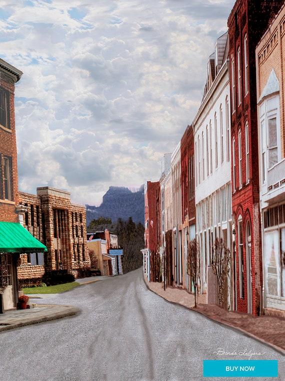 Irvine Kentucky by Brenda Salyers, Fine Art Giclee Print on Paper Canvas or Wood by Brenda Salyers by Brenda Salyers