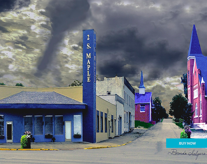 West Broadway Street Winchester Kentucky Fine Art Giclee Print on Paper Canvas or Wood by Brenda Salyers by Brenda Salyers