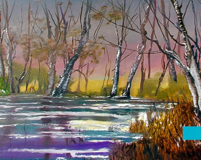 Wintertime N Kentucky Giclee Print on Fine Art Paper Canvas or Wood by Brenda Salyers by Brenda Salyers