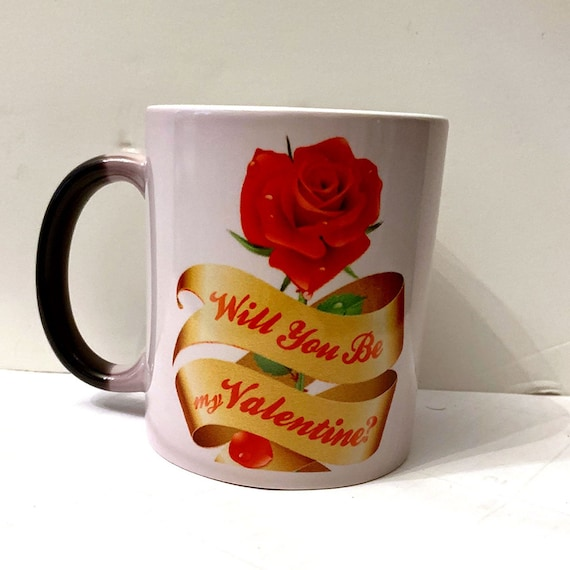 Valentine Magic Mug, Just pour in favorite hot beverage and watch the magic begin