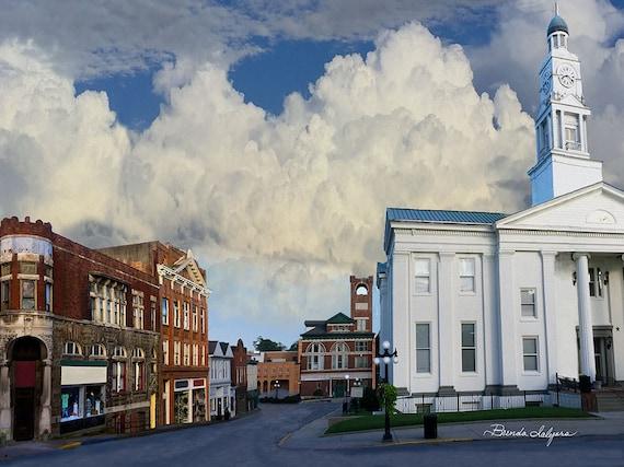 Court Street Winchester Kentucky Fine Art Print on Paper Canvas or Wood by Brenda Salyers by Brenda Salyers