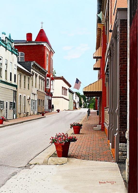 Kentucky, Flemingsburg, Giclee Print on Fine Art Paper or Canvas