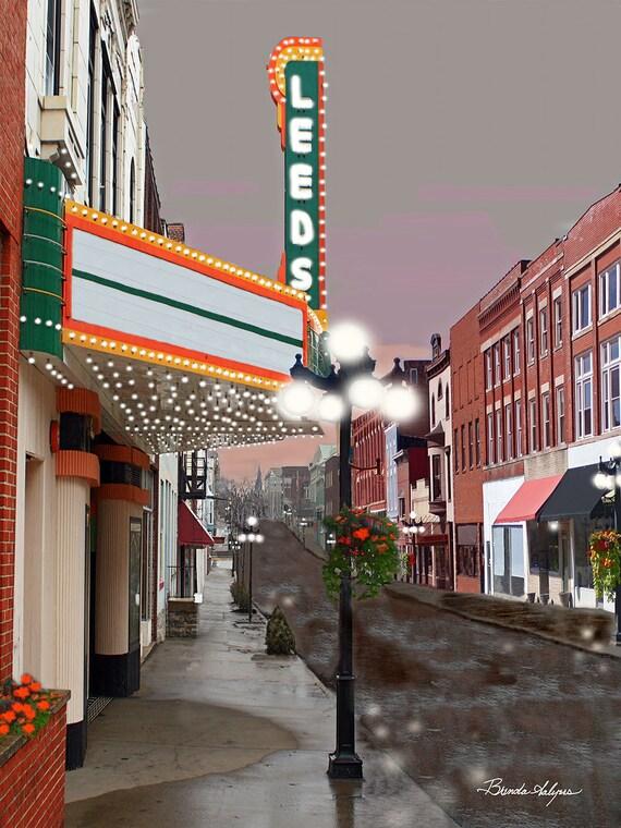 Kentucky, Leeds Theater Winchester Fine Art Print on Paper or Canvas Brenda Salyers