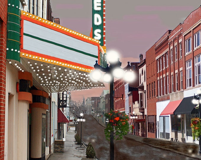 Leeds Center for the Arts Winchester Kentucky Fine Art Giclee Print on Paper Canvas or Wood by Brenda Salyers by Brenda Salyers