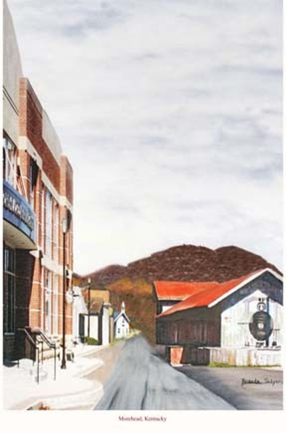 Kentucky Morehead, First Street, Giclee Print on Fine Art Paper or Canvas