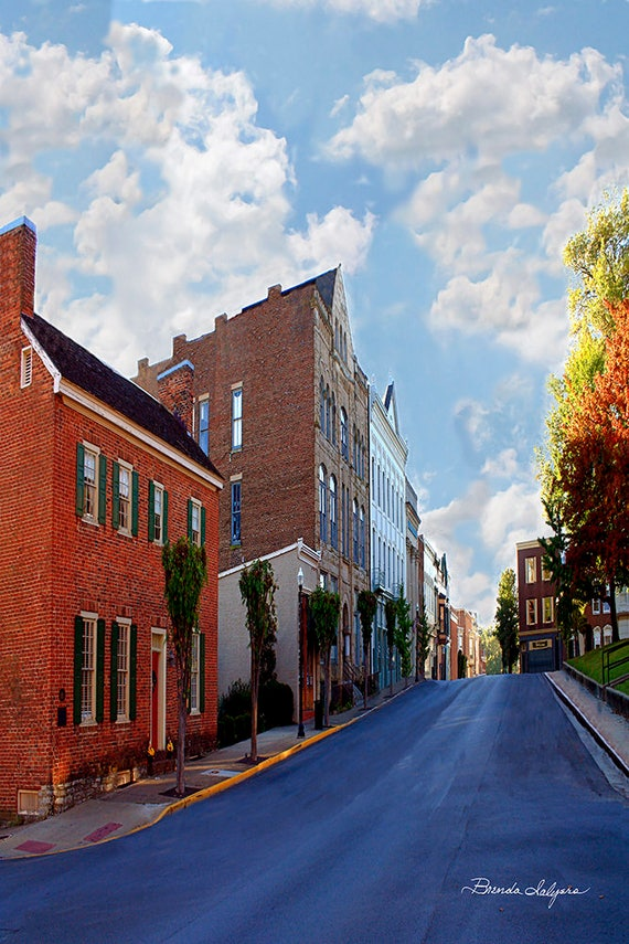 North Maysville St. Mt Sterling, KY by Brenda Salyers, Fine Art Giclee Print on Paper or Canvas, Custom or Framed Orders Welcome