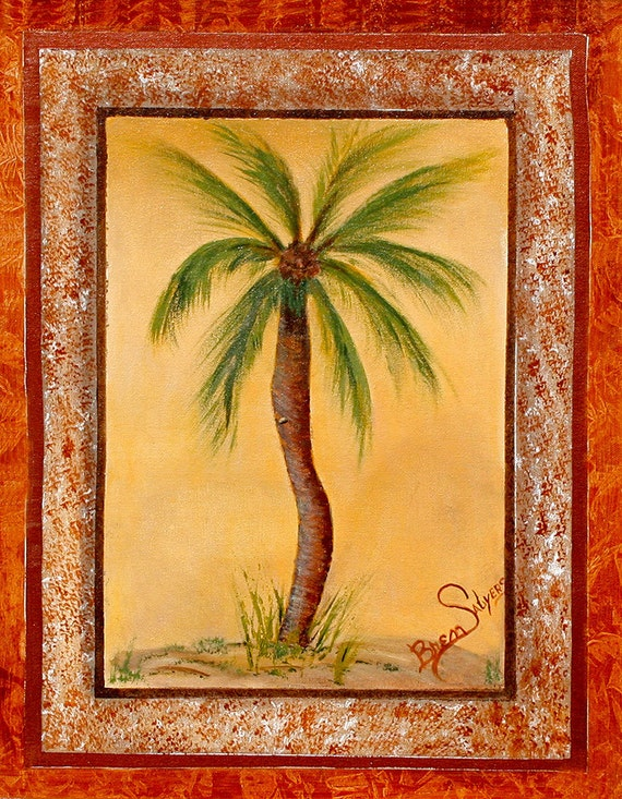 Palm Tree, Giclee Print on Fine Art Paper or Canvas