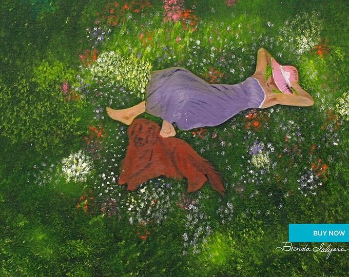 Best Friends Giclee Print on Fine Art Paper Canvas or Wood by Brenda Salyers by Brenda Salyers