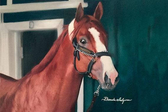 Triple Crown Winner Justify,  Kentucky Derby, Belmont, Preakness Winner Prints on Fine Art Paper or Canves,