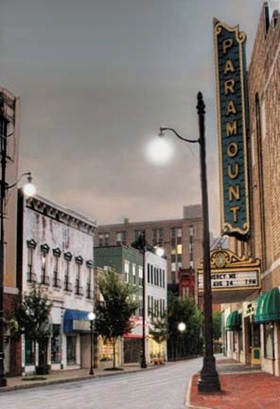 Kentucky, Winchester Avenue, Ashland,  Giclee Print on canvas or Fine Art Paper.