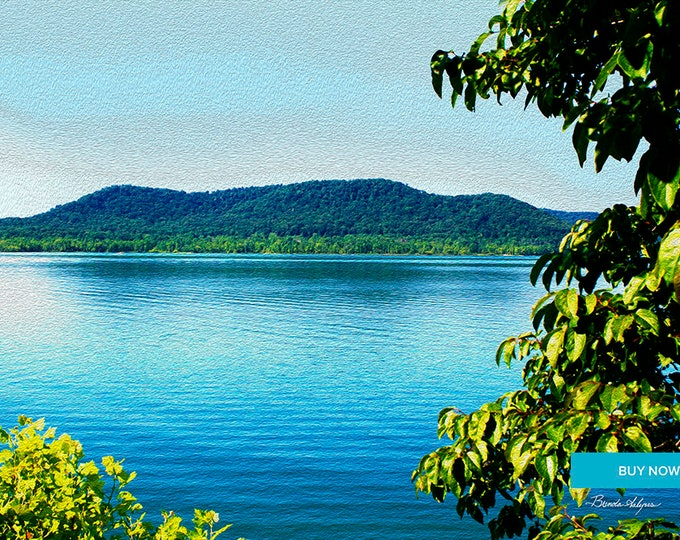 Cave Run Lake Summer Morehead Kentucky Fine Art Giclee Print on Paper Canvas or Wood by Brenda Salyers by Brenda Salyers