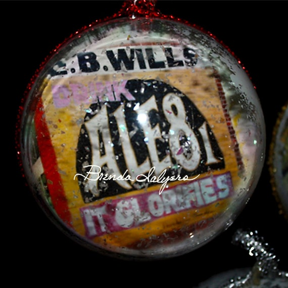 "Kentucky, Ale 8 One Christmas Ornament, 4"" Round Acrylic"