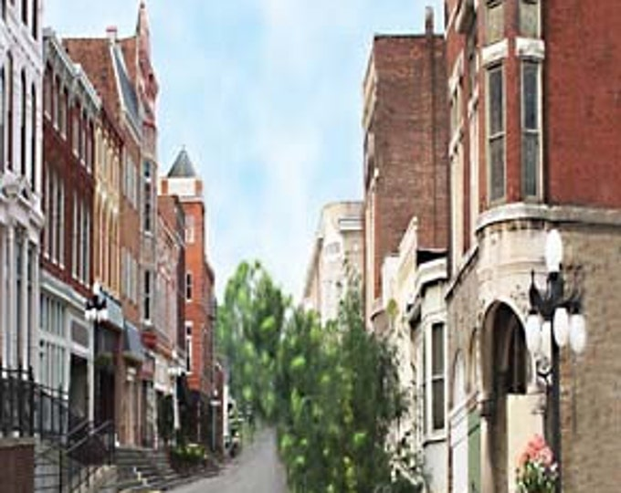 Winchester Kentucky,South Main Street, Giclee Print on Fine Art Paper Canvas or Wood by Brenda Salyers by Brenda Salyers