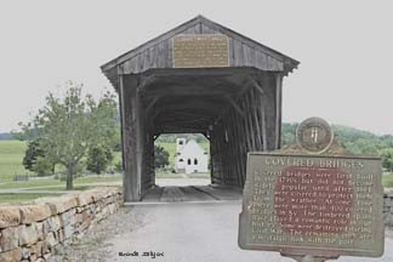 Kentucky, Goddard Covered Bridge, Flemingsburg, Giclee Print on Fine Art Paper or Canvas