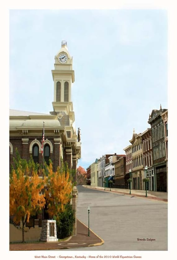Kentucky, Georgetown Giclee Print on Fine Art canvas or paper.