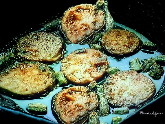 Kentucky Style Fried Green Tomatoes Fine Art Print on Paper or Canvas