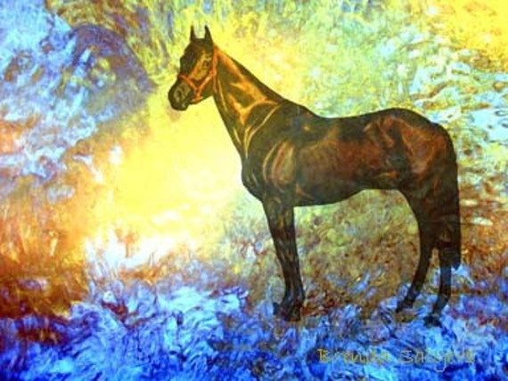 Kentucky, Man O War at the Gate Giclee Print on Fine Art Paper or Canvas