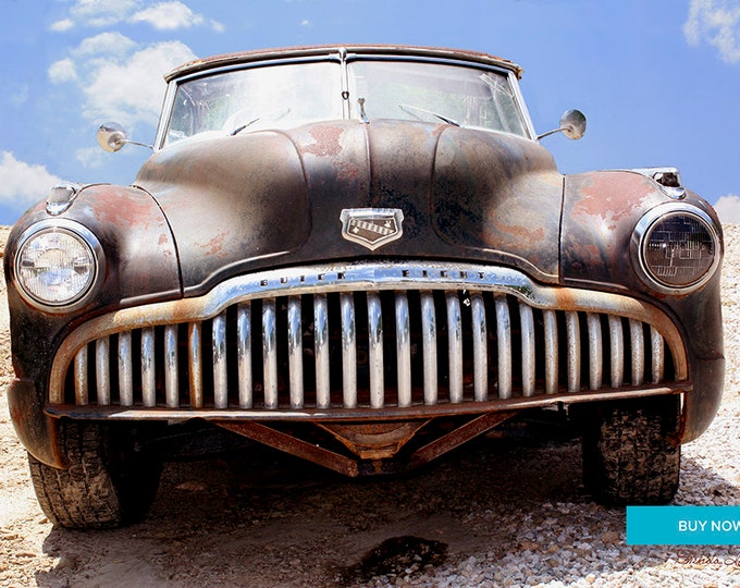 Buick Says Bring it On, by Brenda Salyers, Fine Art Giclee Print on Paper or Canvas or Wood by Brenda Salyers by Brenda Salyers