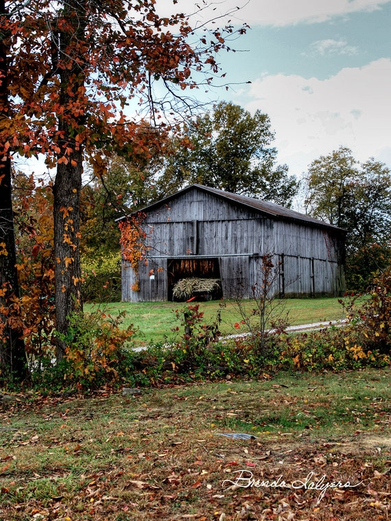 Kentucky, Tobacco Barn Frenchburg Fine Art Print on Paper or Canvas