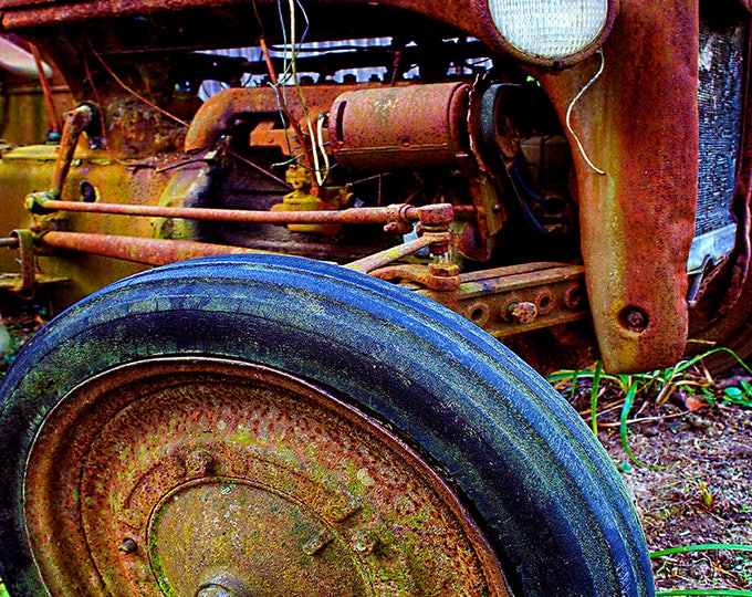Ford Tractor Parts, Farmers/Morehead Ky, Fine Art Print on Paper Canvas or Wood by Brenda Salyers by Brenda Salyers