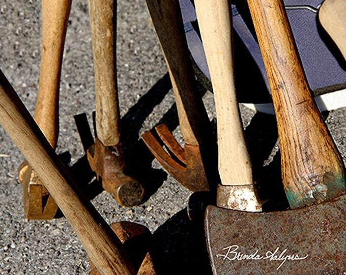 With These Tools Brenda Salyers, Fine Art Print on Paper Canvas or Wood by Brenda Salyers by Brenda Salyers