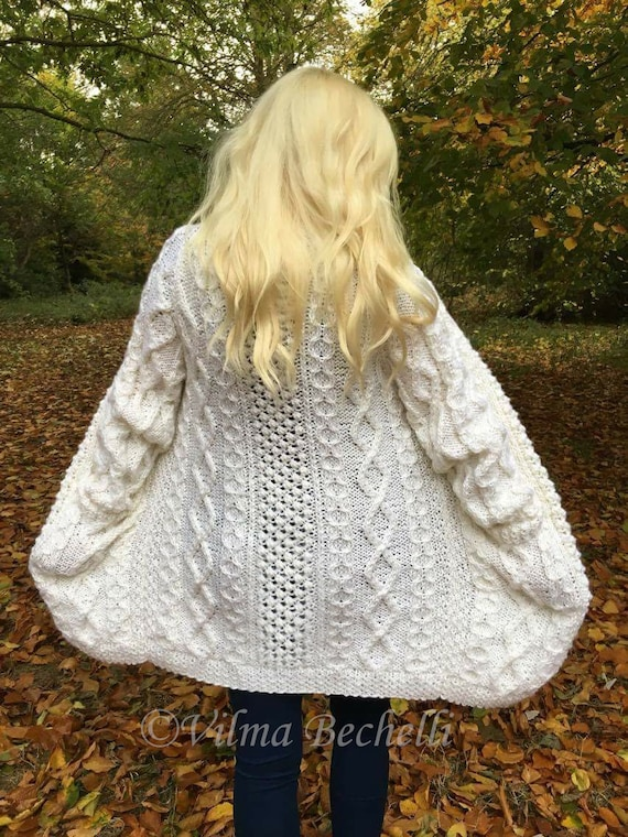 Frau Aran-Jacke Strickmuster. Sofortiger PDF Download | Etsy