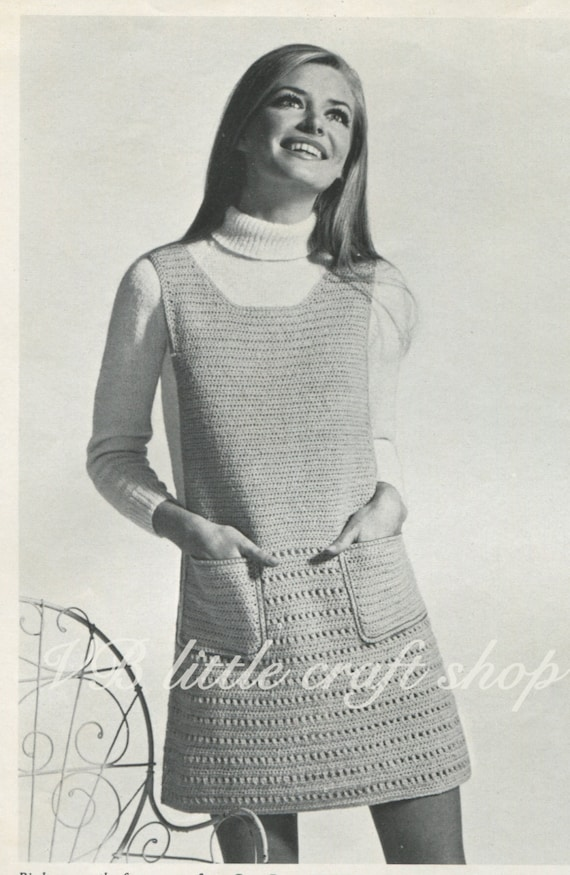Patrones de ganchillo damas delantal vestido. Instant download | Etsy