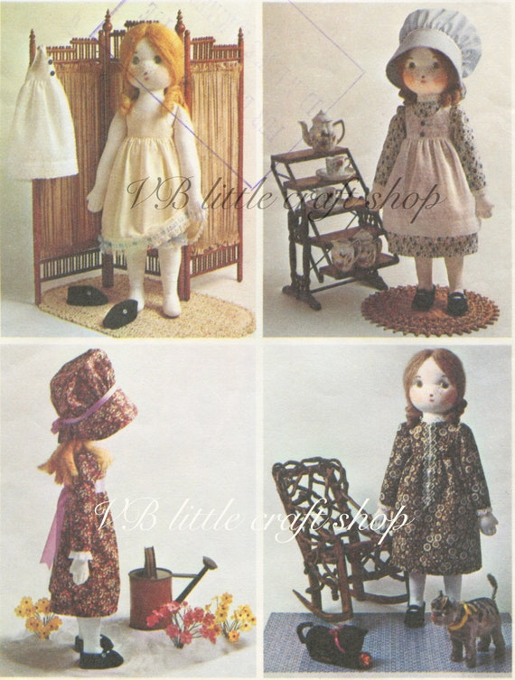 Rag Doll Schnittmuster. Alte Muster-Kopie. Direkten PDF | Etsy