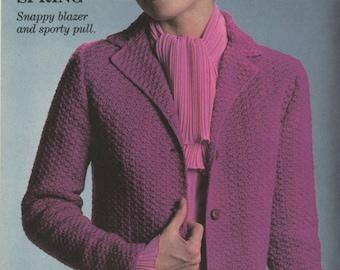 Lady's jacket crochet pattern. Instant PDF download!