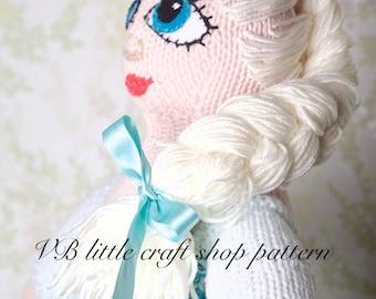 Frozen Elsa doll knitting pattern. Instant PDF download!