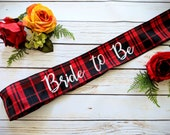 Bride to be customizable future mrs. sash. Flannel plaid bride fall weddings Halloween wedding country northern wedding bridal shower