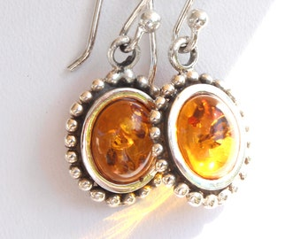 Baltic Amber Sterling Silver Earwire Dangle Earrings - Exclusively from Beautiful Silver Jewelry