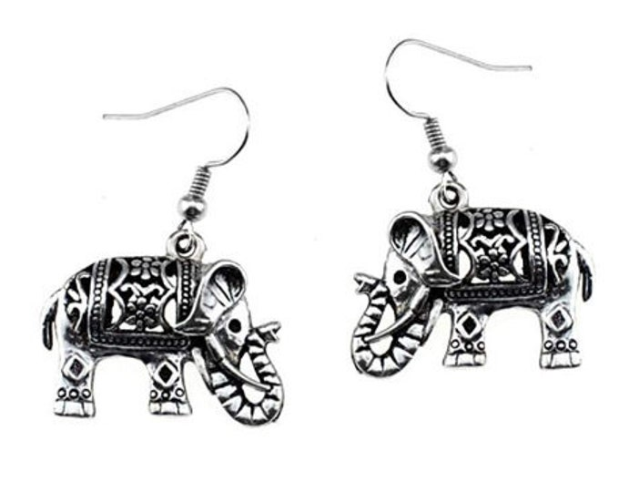 Elephant Earrings on Sterling Silver Earwires