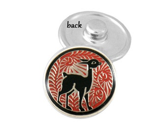 SNAP button - gazelle - african - snap button - chunk buttons - ginger snaps - interchangeable jewelry SNAP jewelry snap chunk