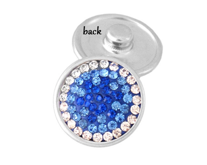 SNAP button - sparkling blue crystal - snap button - chunk buttons - ginger snaps - interchangeable jewelry SNAP jewelry snap chunk