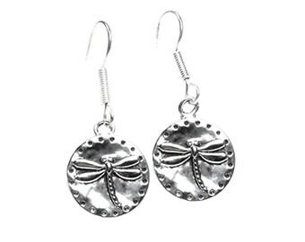 Unique Dragonfly Dangle Silver Dangle Earrings for Women, Girls, Teens, Boho Earrings, Silver Jewelry, 925 Sterling Silver Earwires