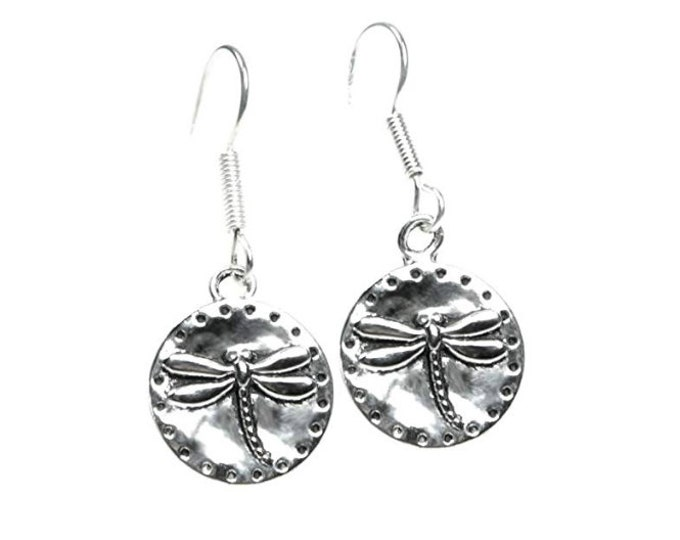 Unique Dragonfly Dangle Silver Dangle Earrings for Women, Girls, Teens, Boho Earrings, Silver Jewelry, 925 Sterling Silver Earwires