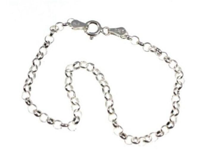 7 Inch Rolo Chain Bracelet 925 Sterling Silver