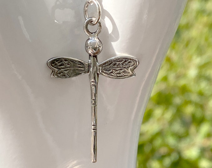 Dragonfly Sterling Silver Pendant Necklace on Your Choice of Chain, Beautiful Dragonfly Jewelry for Wife, Mother, Daughter, Birthday Gift