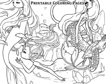 Outstanding Mermaid Coloring Book Pages Picture Inspirations ... | 270x340