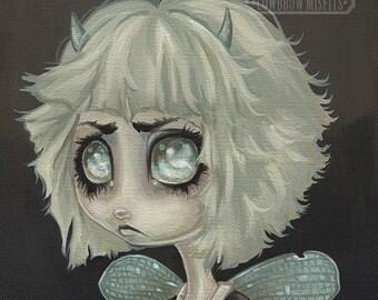 Fairy girl lowbrow misfit fantasy art print big eye pop surreal - Fairy 6