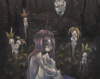 The Blood Seed- Mandrake Maiden art print
