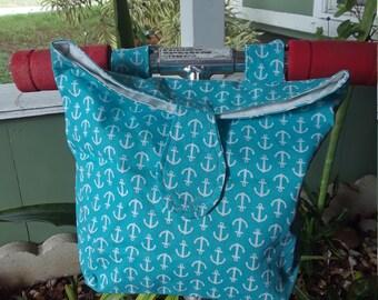 GREEN STRIPTRIANGLES scooter bag stroller bag bicycle bag handlebar bag