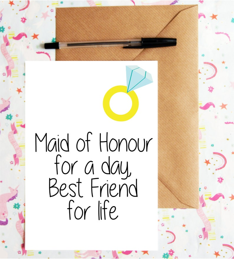 Be my MOH card Maid of Honour Ask Besties Card Maid of Honour for a day Maid of Honor Proposal Wedding Party Best friend for life card