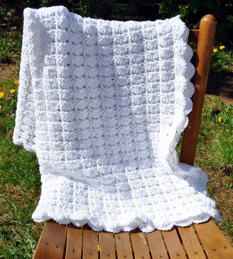 Cotton Baby Blanket Crochet an Heirloom in the making