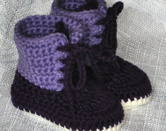 Baby Booties, Crochet Cotton Baby Boots, Winter Style Boots size 0 to  18 months