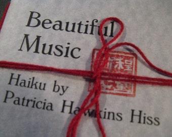 026 Beautiful Music handbound autographed HAIKU